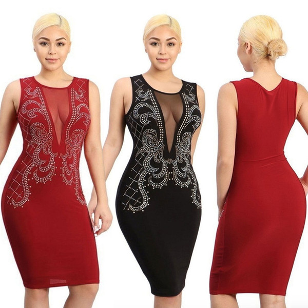 Buyter(TM) Hot Sale New Exotic designer bandage women sleeveless lace sexy club fashion red dress