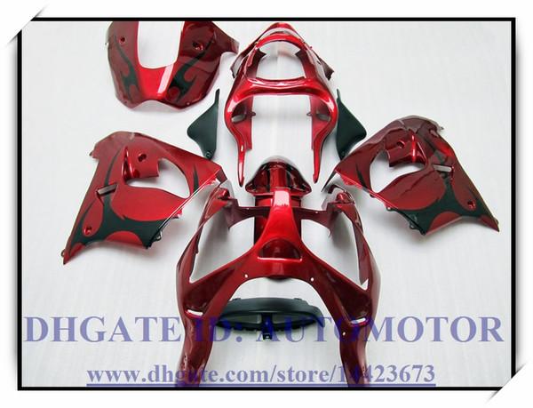 100 brand new fairing kit fit for kawa aki ninja zx9r 2000 2003 2001 2002 ninja zx9r 00 01 02 03 bg835 red