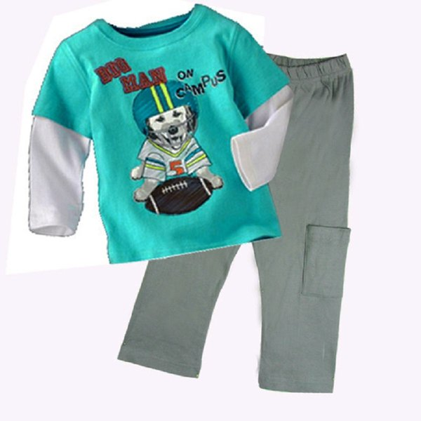 Baseball Boys Clothes Sets Children Sport Suit Kids Tees Shirts Trousers Clothing Suit baby Boys Outfits Cotton BoyT-Shirt Pant