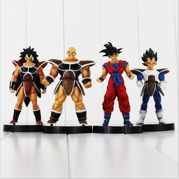 Anime Dragon Ball Son Goku Nappa Raditz PVC Action Figure Collectable Model Toy for kids gift Free Shipping EMS