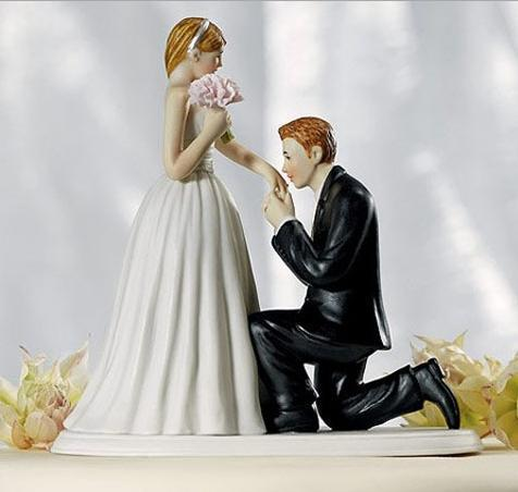 sweet love couple wedding bride and groom cake topper decorations