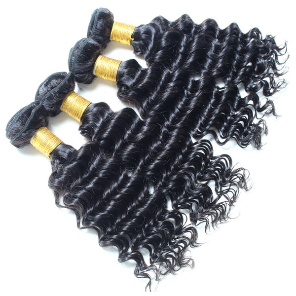 8a Virgin Deep Curly Indian Hair Machine Double Weft Natural Color