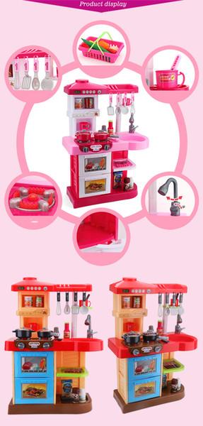 Beiens Brand Toys Kids Kitchen Set Children Kitchen Toys Large