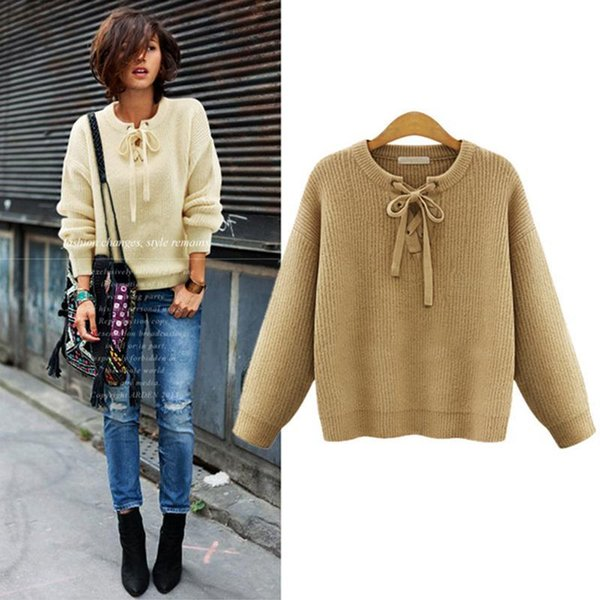 Fashion,Kniited Oversized Sweater Women 5xl 5xl Nice Autumn Cute Bow Pullover  Sweater Women Slim