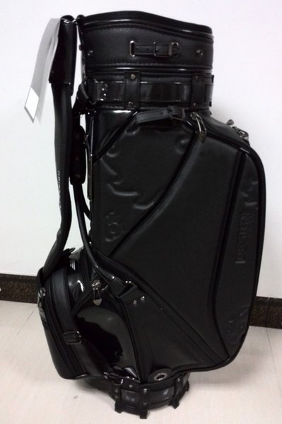 "best selling golf staff bag 2016 new style Ti CB5AW press flower Golf staff Bags 9"" in black"