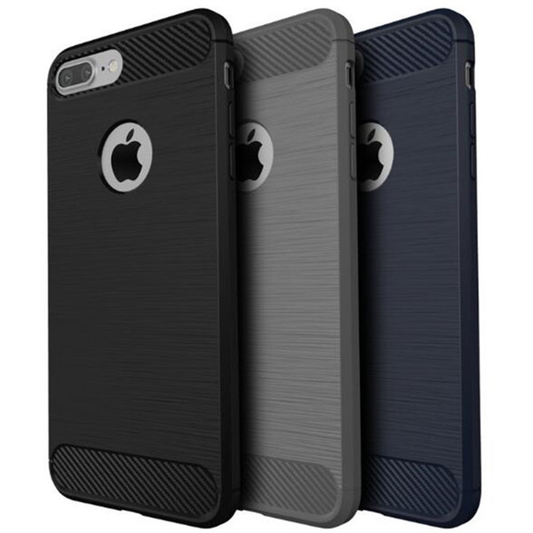 Carbon Fiber Texture Cases For iPhone7 7 Plus Cool Scratch Drawbench Slim Hard Bumper Anti-Drop Protection Armor Cases For Apple iPhone 7
