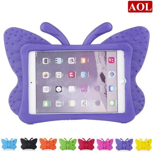 Für neue iPad 2017 Pro Luft 2/3/4 Mini Stoßfest Fall Cartoon Kinder Sicher 3D Schmetterling Stand zurück Abdeckung weiche EVA Shell