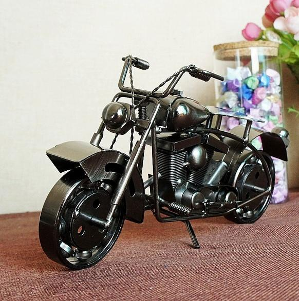 LARGE Handmade metal model motorcycles Iron Motorbike Models Metal Craft for Man Gift Business Gifts Home Decoration car