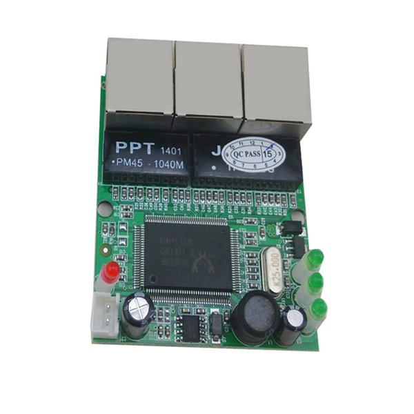 Realtek chipset RJ45 3 ports mini ethernet switch board factory accept OEM ODM network switches pcb