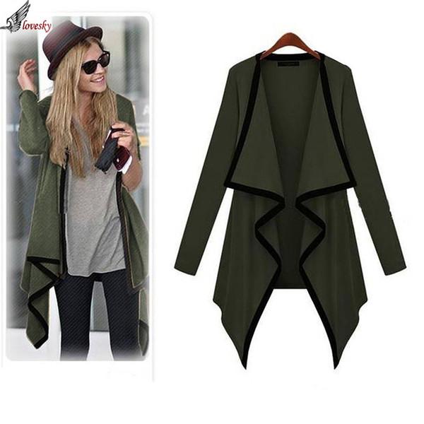 4584f77e9b Wholesale-Lovesky 2016 European Warm Autumn Lady Casual Knit Long Sleeve  Thin Sweater Coat Cardigan