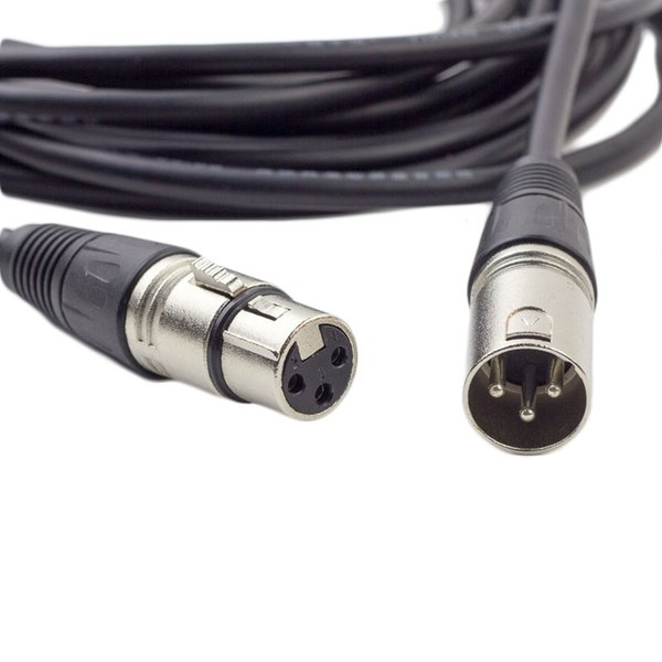 3 Pin Cable Silver XLR Male to Female Microphone Mic DMX Stereo Cables 5M Extension Cable 30 PC /UP