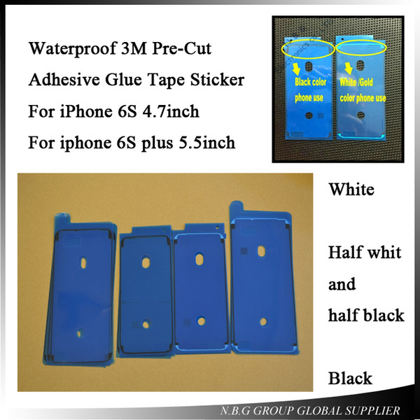 1000pcs/lot by DHL Waterproof 3M Pre-Cut Adhesive Glue Tape Sticker For iPhone 6S 6SP Front Housing LCD Touch Screen Display Frame