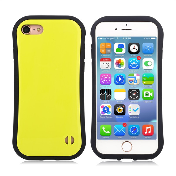 50pcs Fashion Soft Silicone Candy Color Korea Style Shock Absorbing Case for iphone 7 4.7inch lg x power k210 Cell Phone Back Cover Case