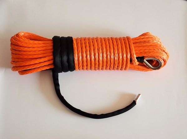 "Wholesale-Orange 3/8""*100ft synthetic winch rope, plasma winch cable for atv accessaries,4x4 UHMWPE rope for atv winch accessary"
