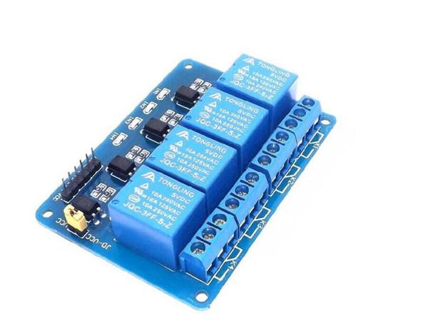 2pcs Module de relais 4 canaux avec optocoupleur. Module relais relais 4 sorties