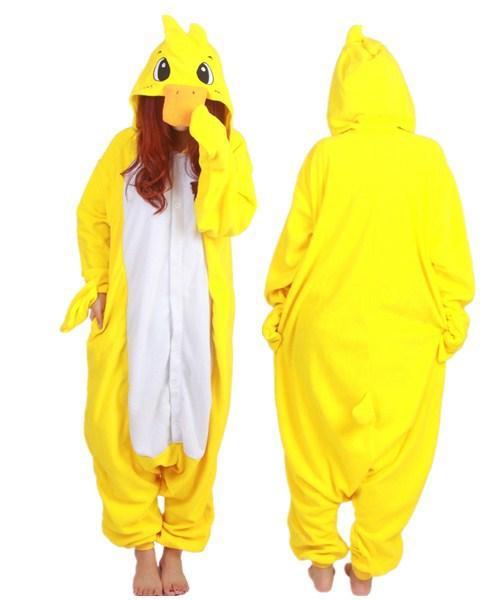 SS Hot Unisex Adult Duck Pajamas Animal Onesie Cosplay Costume Pyjamas Sleepsuit Unisex Adult Free Shipping