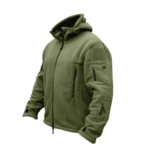 Military Tactical Softshell Fleece Jacket Hooded Winter Men US Army Polartec Sportswear Clothes Warm Coat Casual Jackets