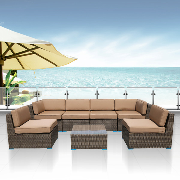 Outstanding 2018 Outdoor Furniture Complete Patio Cushion Wicker Rattan Garden Corner Sofa Couch Set Outdoor Furniture Sofa Set Garden Table Chair From Pabps2019 Chair Design Images Pabps2019Com