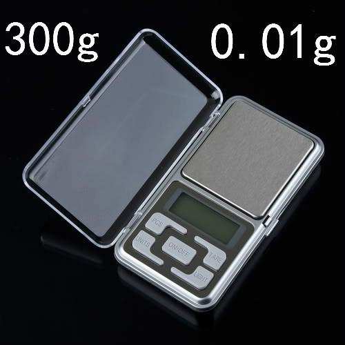 500pcs/lot BY DHL /Fedex New Pocket LCD Display Jewelry Scale Gem Weight Scale Balance 300g 0.01g Hot Sale