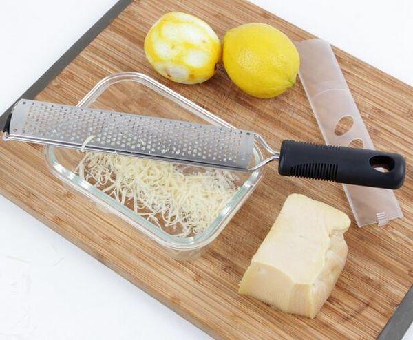top popular Stainless Steel Lemon Zester Fruit Peeler Cheese Zester Microplane Grater Fruit Vegetable Tools & Kitchen 2019