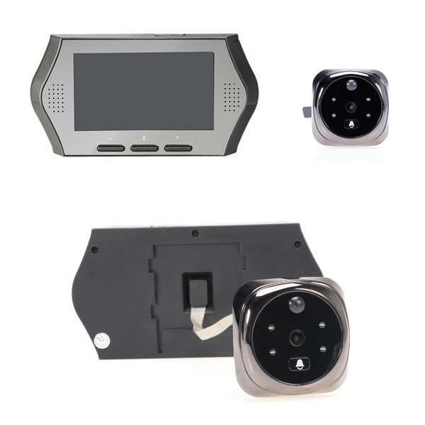 Hot peephole door camera 4.3inch LCD 0.3Megapixels PIR motion detection IR night vision 32 Rings Multi-language peephole camera  sc 1 st  DHgate.com & Hot peephole door camera 4.3inch LCD 0.3Megapixels PIR motion ...