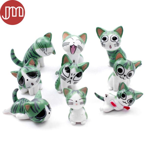 New 9 PCS Kawaii Chi's Sweet Home Cat Figures Mini Miniature Fairy Garden DIY Decor Bonsai Craft Kitten Toys Gift Brinquedos
