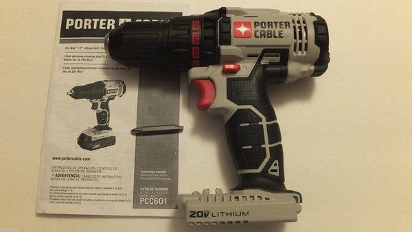"top popular New Porter Cable PCC601 20V 1 2"" Lithium Ion Cordless Drill Driver with LED 2021"