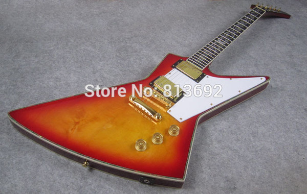 Электрогитара, вишня, ушка инкрустация,Эбони, высокое качество гитара, CST001