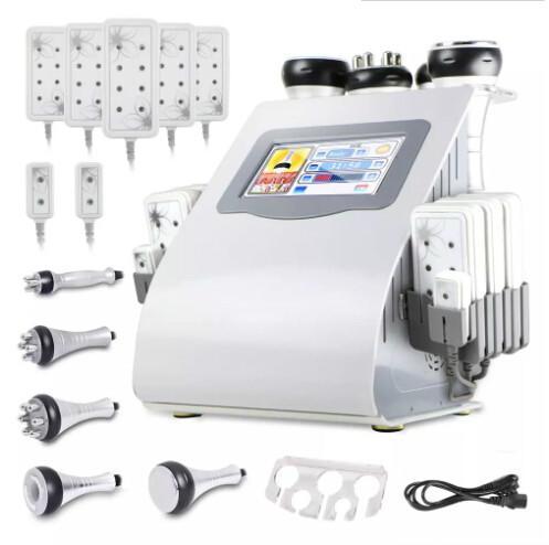 Nueva caliente 6 en 1 máquina de radiofrecuencia de vacío de cavitación para envío rápido rápido de spa