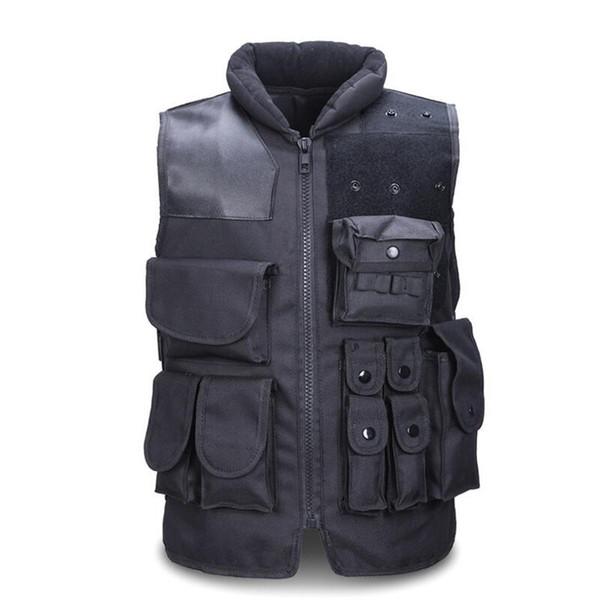 Gilet tattico da uomo Army Caccia Molle Softair Vest Outdoor Body Armor Swat Combattere Painball Black Vest per gli uomini