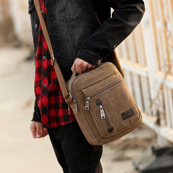 Free Shipping New Men Canvas Bag Multifunction Crossbody Bag Shoulder Purse Bags Man Handbag Sling Bag MCB022