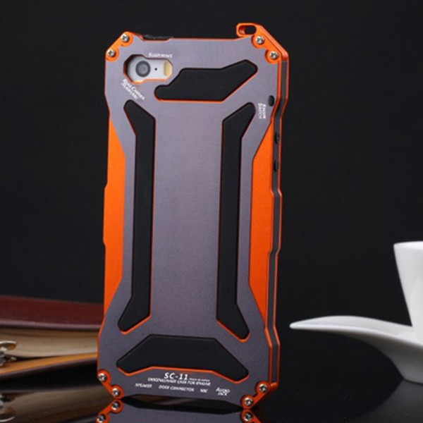 Shockproof Phone Cover For Iphone 5s Full -Body Protection Aluminum Gorilla Glass Metal Cover Cell Phone Case For Iphone 5 5s Se