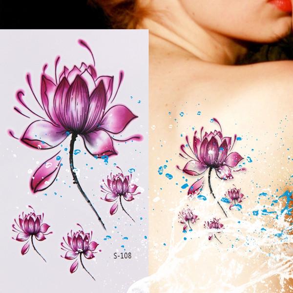 10 Sheetsflowers Temporary Tattoo Stickers Waterproof Body Art Decor Safe Body Tattoo Stickers 105 X 60mm Axl Rose Temporary Tattoos Beautiful Name