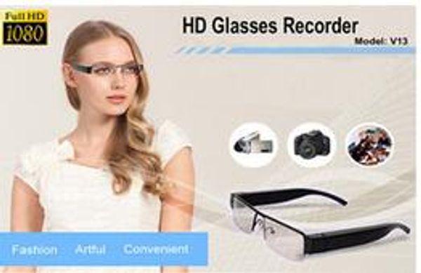 V13 1080p Full HD Digital Video recorder Glasses Camera Eyewear DVR Camcorder hot Eyeglass 1080p mini dv camera