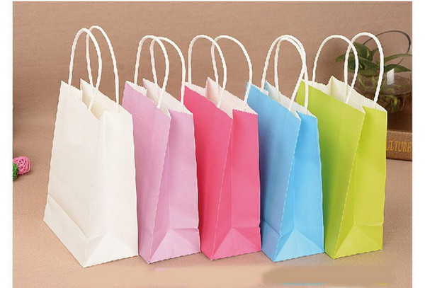 Gift Paper Bag Paper Party Loot Bags Birthday Christmas Colour Gift Treat Sweet Candy Bag Paper Shopping Bags Paper Gift Bags Free Shipping
