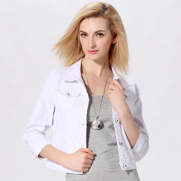 damen jeansjacke weiß
