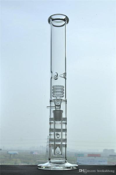 Alto Espessamento Triplo Favo De Mel Perc Bong Hookah 18mm conjunta De Vidro Bongos De Água Plataformas De Petróleo Percolador Tubos De Água De Vidro Bongs
