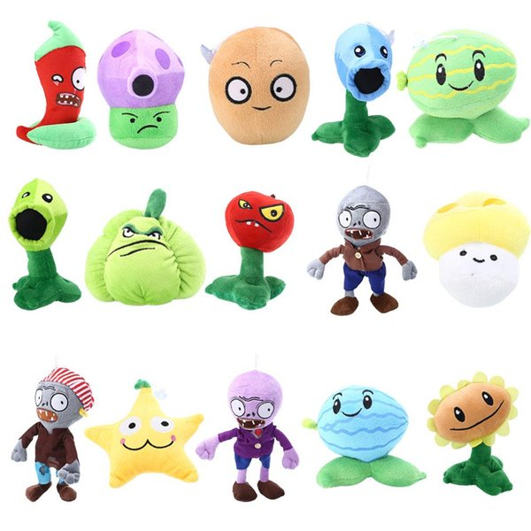 best selling PLANTS vs. ZOMBIES Plush Soft Toy Kids Gift Teddy Dolls Nut Plantera Pumpkin