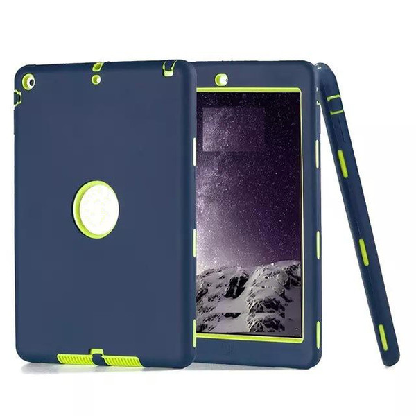 For ipad case defender shockproof Robot Case military Extreme Heavy Duty silicon cover for ipad 2 3 4 5 6 air mini 4 DHL Free Shipping