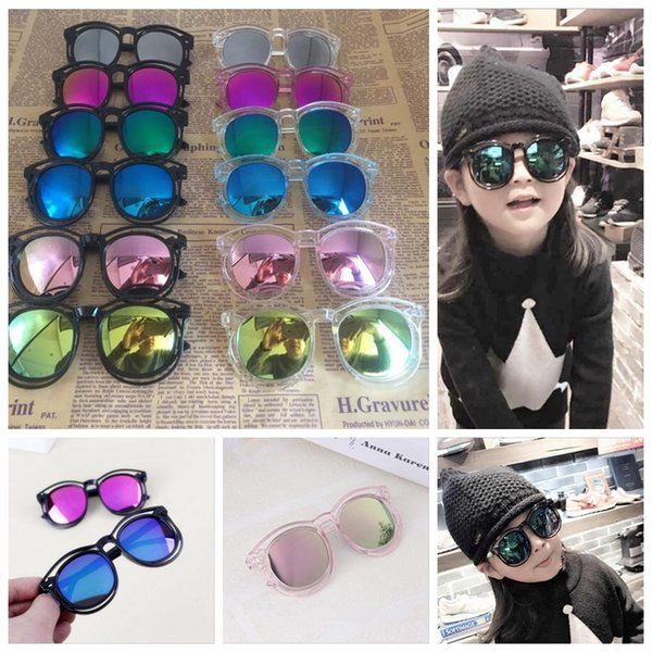 Children Sunglasses Kids Girls Boys Hollow Design Sunglass UV Protection Summer Beach Travel Eyewear Top Quality YYA367