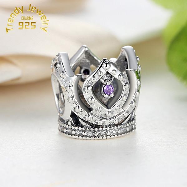Argent sterling 925/en /émail violet Fleur Charm Bracelet /à maillons pour filles 15,2/cm