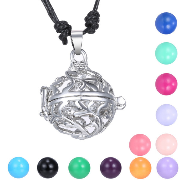 Women Pregnancy Baby Plant Flower Hollow Cage Bell Jewelry Mexican Bola Angel Caller Chime Ball Pendant Necklace Fit 16mm Chime Ball 2016