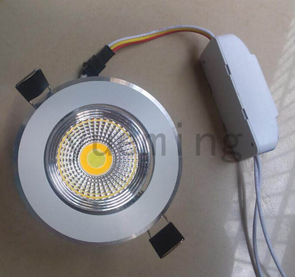 hot!!!9W COB Recessed Led cediling down light Can change 3 temperature( cool white/pure white/ warm white) COB Led ceiling lamps ,AC85-265V