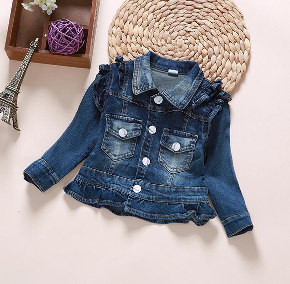 a7d063a1c Long Sleeve Jeans Jacket Tops Coats Girls Cute Lace Jackets Fashion ...