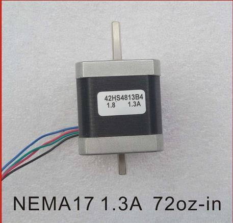 top popular Dual Shaft NEMA 17 Stepper Motor 52N.cm (72 oz-in) Body Length 48mm CE Rohs CNC 3D Printer Motor 2021