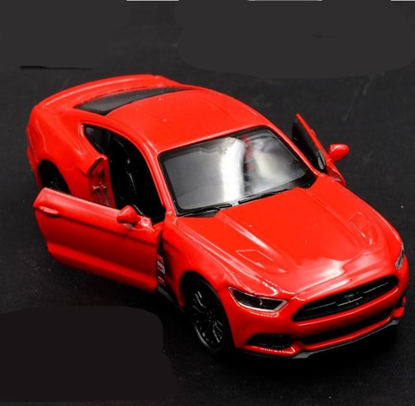 High simulation Ford Mustang GT sports car, 1:36 alloy pull back car model,diecast metal toy vehicle,2 open door kid's toys