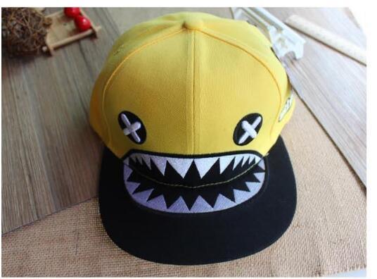 Männer passten Hysteresen-Hüte populäre Baseballmützen Hip-Hop-flache Paare kappen den Hut-Mode den Haifisch-Korea-Sonnenhut für Frauen-heißen Verkauf