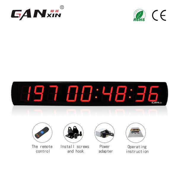 best selling [GANXIN]4 inch 9 Digits Large Indoor LED Display Digital Calendar Day Event Countdown with 999 Days Timer Wall Clock with Remote Control