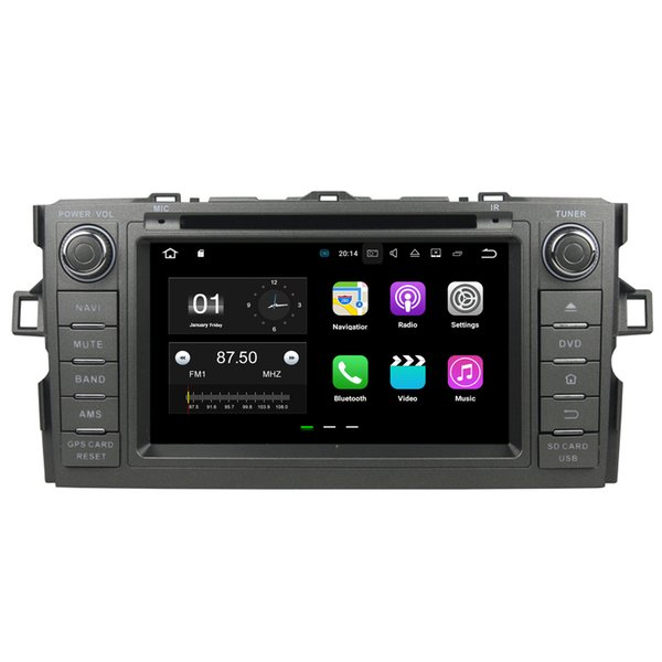 """7"""" Android 7.1 System Car DVD Recorder For Toyota Auris Hatchback Corolla WIFI 4G OBD DVR 4K Video Mirror Screen 2G RAM 16G ROM"""
