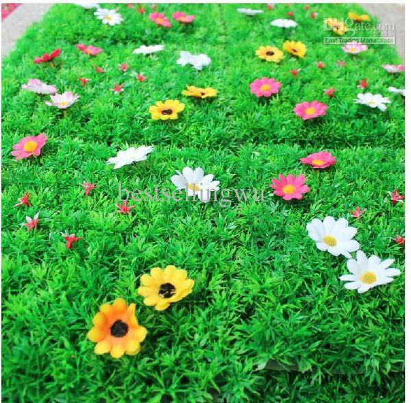 25 * 25 CM Artificial Imitation Fake Grass Mat artificial turf plastic boxwood for Garden House Nursery Schools Decorations